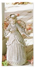 Porch Angel In The Fall Beach Towel