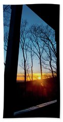 Porch Sunset Beach Towel