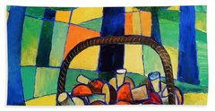 Beach Towel featuring the painting Porcini by Mikhail Zarovny