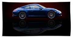 Porsche 911 Carrera - Blue Beach Towel