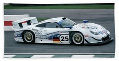 Porsche 911 Gt1 Strassenversion Beach Sheet