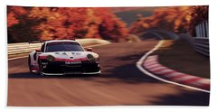 Porsche 911 Rsr, Nordschleife - 41 Beach Towel