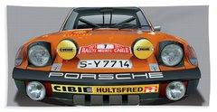 Porsche 914-6 Illustration Beach Towel