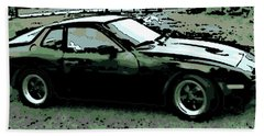 Porsche 944 On A Hot Afternoon Beach Sheet