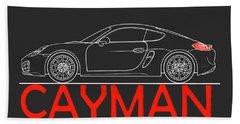 Porsche Cayman Phone Case Beach Towel