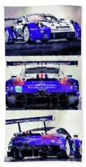 Porsche Rsr Le Mans 2018 - 02 Beach Towel