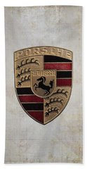 Porsche Shield Beach Towel