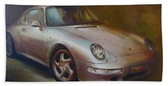Porsche Beach Sheet by Vali Irina Ciobanu