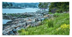 Port Clyde From Marshall Point Beach Sheet by Daniel Hebard