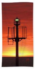 Port Hughes Lookout Beach Sheet by Linda Hollis