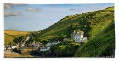 Beach Sheet featuring the photograph Port Issac Hills by Brian Jannsen