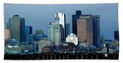 Port Of Boston Beach Towel
