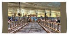 Port Of Newport - Dock 5 Beach Sheet