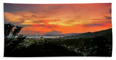 Port Of Spain Sunset Beach Towel