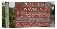 Port Of Waverly Beach Towel