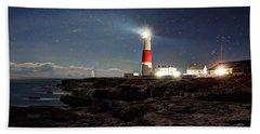 Portland Bill Lighthouse Uk Beach Towel