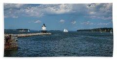 Portland Harbor, Maine Beach Towel