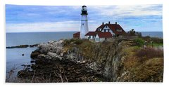 Portland Head In Maine Beach Towel