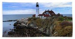 Portland Head In Maine Beach Sheet
