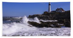 Portland Head Light I Beach Towel