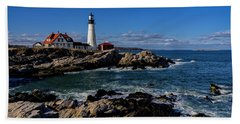 Beach Towel featuring the photograph Portland Head Light No.32 by Mark Myhaver