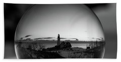 Portland Headlight Globe Beach Towel