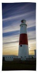 Portland Lighthouse At Sunset Beach Sheet