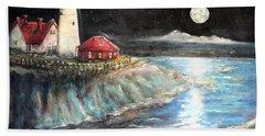 Portland Maine Twilight Beach Sheet by Bernadette Krupa