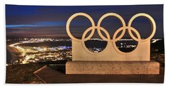 Portland Olympic Rings Beach Towel