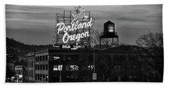 Portland Signs Beach Towel