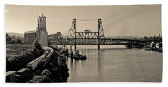 Portland Steel Bridge Beach Towel