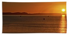 Portland Sunrise Beach Towel by Baggieoldboy
