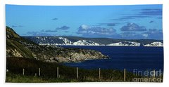 Portland To Weymouth  Beach Towel by Baggieoldboy