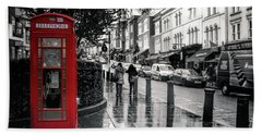 Portobello Road London Beach Towel by Lynn Bolt