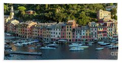 Beach Towel featuring the photograph Portofino Morning Panoramic II by Brian Jannsen