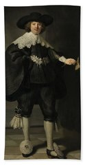 Portrait De Marten Soolmans, 1634 Beach Towel