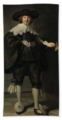 Portrait De Marten Soolmans, 1634 Beach Sheet