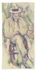 Portrait De Vallier Beach Towel