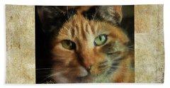 Portrait Of A Cat Beach Sheet