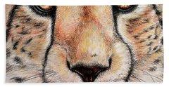 Portrait Of A Cheetah Beach Towel by Heidi Kriel