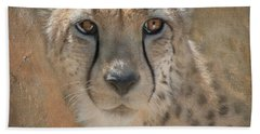 Portrait Of A Cheetah Beach Sheet