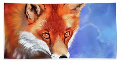 Portrait Of A Fox Beach Towel