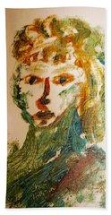 Portrait Of A Girl  Beach Towel by Shea Holliman
