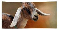 Portrait Of A Goat Beach Towel