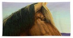 Portrait Of A Horse Beach Towel