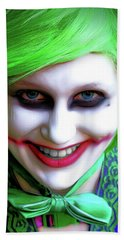 Portrait Of A Joker Beach Towel