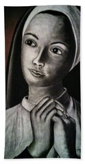 Portrait Of A Nun Beach Towel
