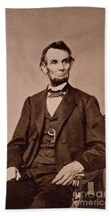 Portrait Of Abraham Lincoln Beach Towel