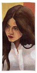 Portrait Of Amelia Beach Towel