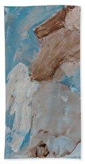 Portrait Of An Angel Beach Sheet